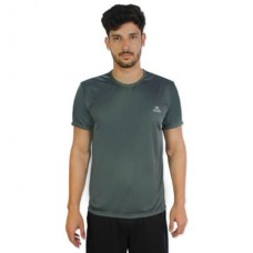 Camiseta Color Dry Workout SS CST-300 - Masculino - G - Chumbo - Muvin